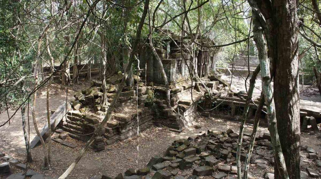 カンボジアのベンメリア遺跡の景色