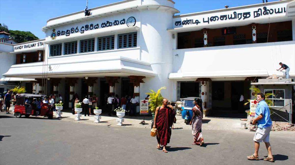 スリランカのキャンディ駅