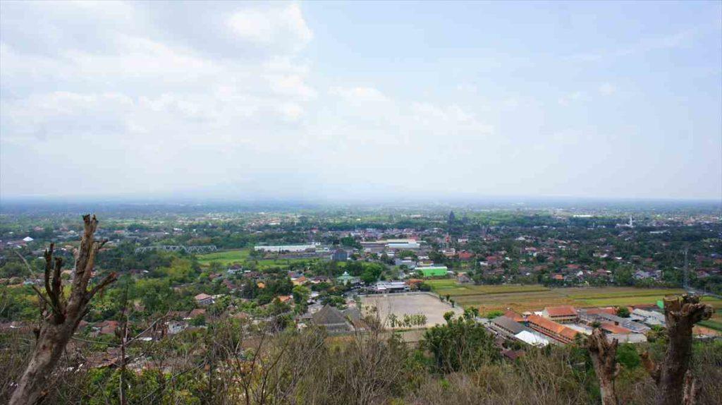 ジョグジャカルタにあるボコ遺跡からの景色