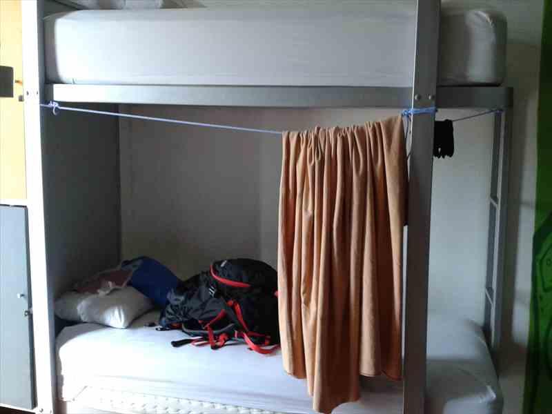 洗濯ロープでカーテン