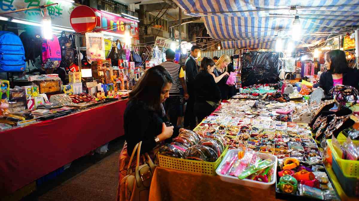 香港女人街の夜