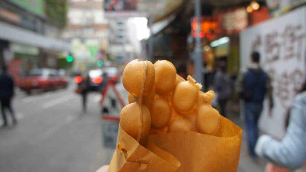 香港で一口焼きみたいな食べ物