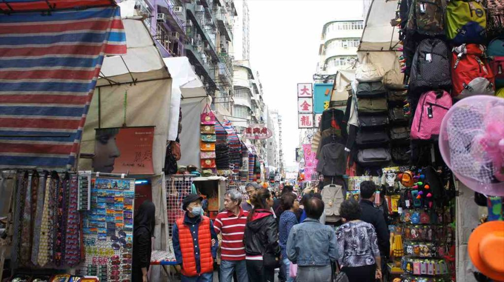 香港の男人街周辺を歩く