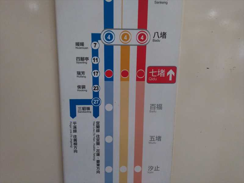 台北市内から十份へ電車で移動する方法