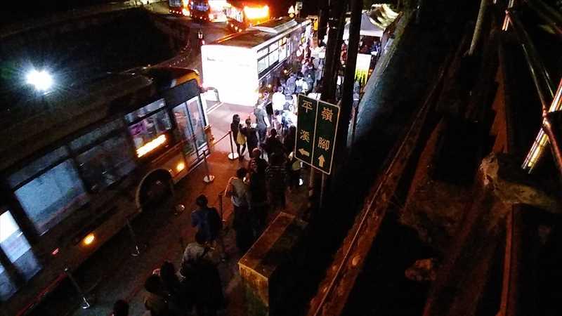 平溪天燈節のシャトルバス