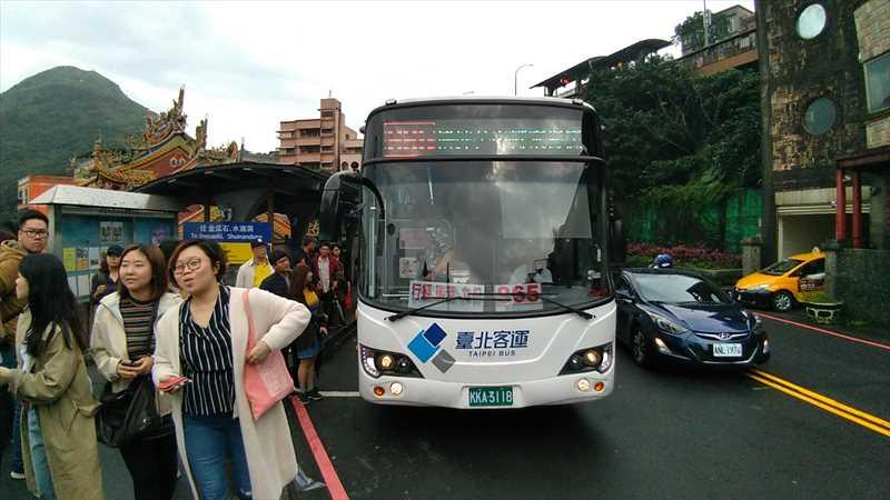 台北市内から九份へのバス965番