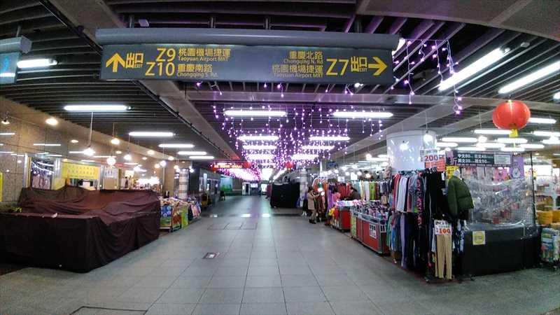 台北地下街からネクスト台北ホステルへ行く方法