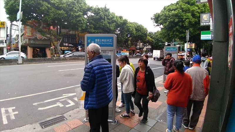 故宮博物院行きのバス停