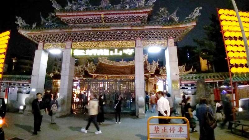 台北の観光地の龍山寺