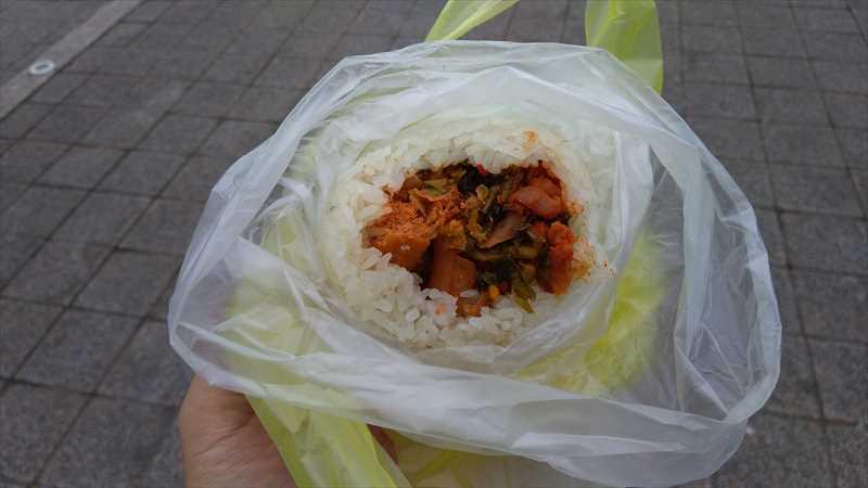 台北の朝食にオススメなもち米おにぎりの飯糰