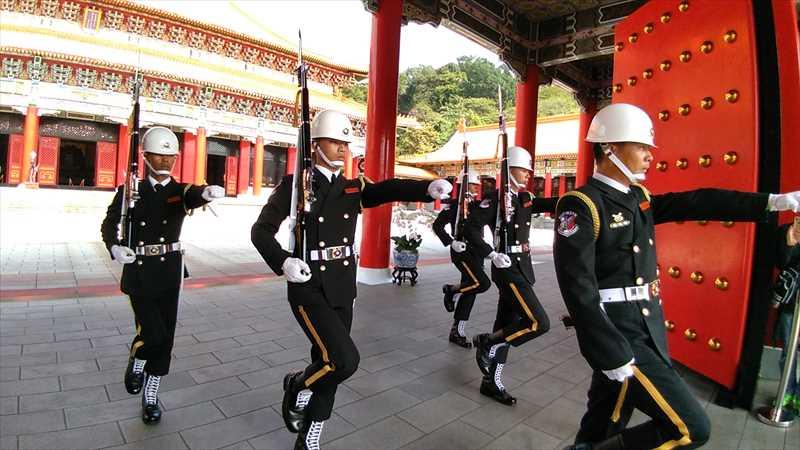 台北の観光地である忠烈祠